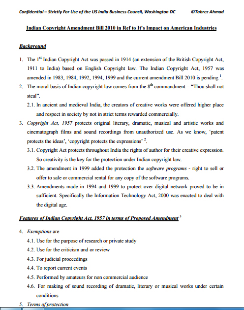 Impact-of-Proposed-Indian-Copyright-Amendment-2010